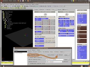 GraphiteOne 2.1.1 - Finestra setting per il cambio font (cerchiata in arancione l'opzione) e panoramica dei comandi principali